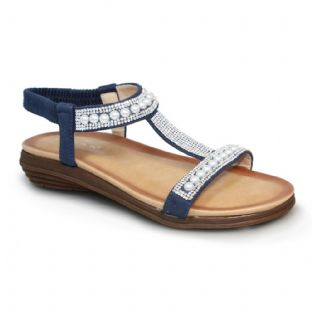 Lunar Womens Tancy Pearl Blue Sandal
